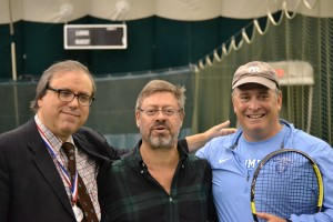 Alan Gerson, President with Dr. David Milch, Advisory Board Member and Columbia University's Varsity Tennis Coach Howie Edelman at third annual SGHY Tennis Tournament